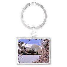 Thomas Jefferson Memorial 3 squ Landscape Keychain