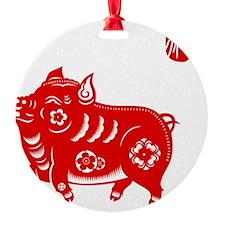 Asian Pig Ornament
