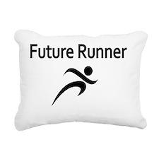 Future Runner Rectangular Canvas Pillow