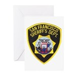 San Francisco Sheriff Greeting Cards (Pk of 10