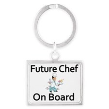 Future Chef on Board Landscape Keychain