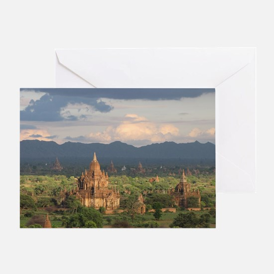Bagan city of pagodas 1 Greeting Card