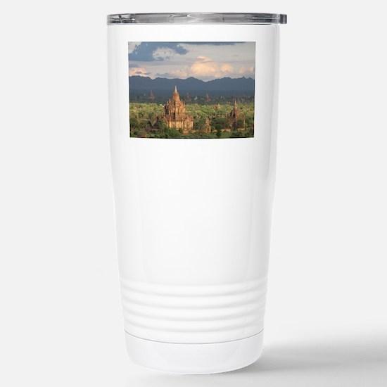 Bagan city of pagodas 1 Stainless Steel Travel Mug