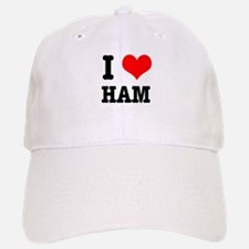 I Heart (Love) Ham Baseball Baseball Cap