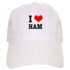 I Heart (Love) Ham Baseball Cap