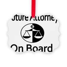 Future Attorney on Board Ornament