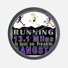 RUNNING IS SO GANGSTA HALF MARATHON Wall Clock