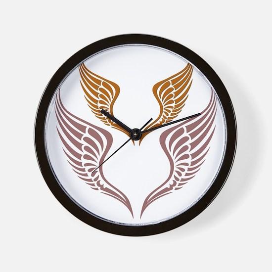 The Tribal Wings Wall Clock