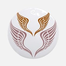 The Tribal Wings Round Ornament