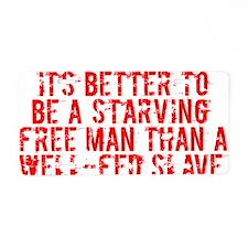 Starving Free Man Aluminum License Plate