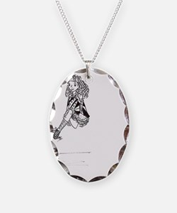 Irish Dancer Leaping Necklace Oval Charm