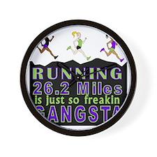 RUNNING IS SO GANGSTA FULL MARATHON Wall Clock