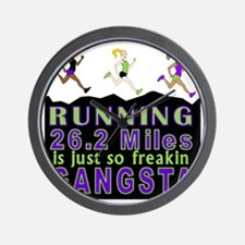 RUNNING IS SO GANGSTA FULL MARATHON Wall Clock