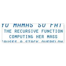 Yo Mama Bumper Sticker