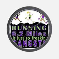 RUNNING IS SO GANGSTA 10K Wall Clock