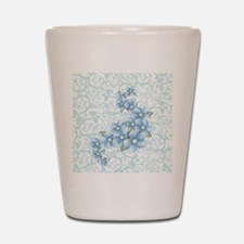 baby blue flowers Shot Glass