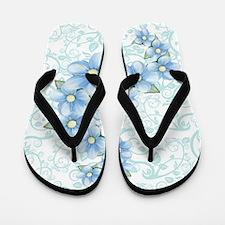 baby blue flowers Flip Flops