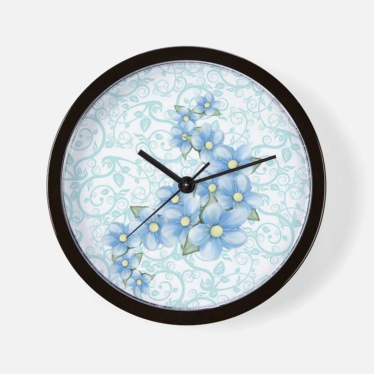 Blue Clocks Blue Wall Clocks Large Modern Kitchen Clocks