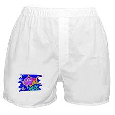 Cartoon Pirahna Boxer Shorts