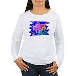 Cartoon Pirahna Women's Long Sleeve T-Shirt