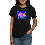 Cartoon Pirahna Women's Dark T-Shirt
