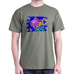 Cartoon Pirahna Dark T-Shirt
