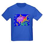 Cartoon Pirahna Kids Dark T-Shirt