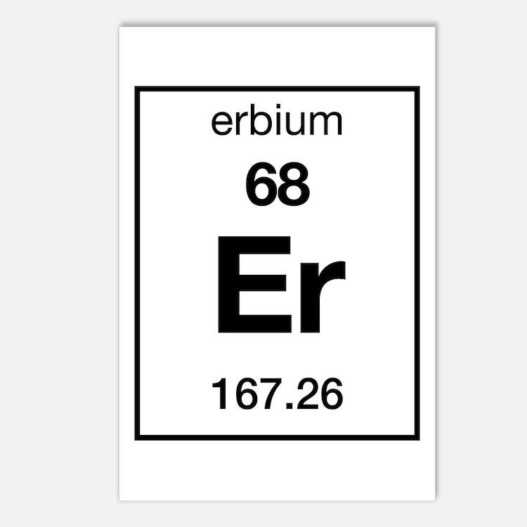 Periodic Table Erbium Postcards