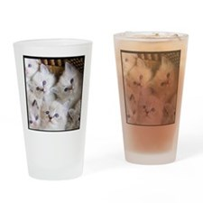 Cup o Kittens round Drinking Glass