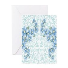 baby blue flowers Greeting Card
