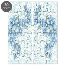 baby blue flowers Puzzle
