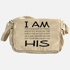 I am His block letters Messenger Bag