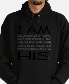I am His block letters Hoodie (dark)