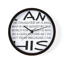 I am His block letters Wall Clock