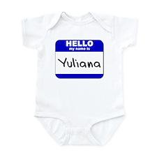 hello my name is yuliana  Infant Bodysuit