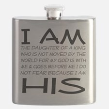 I am His block letters Flask