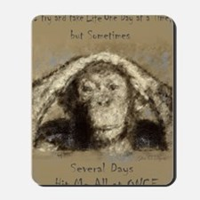 Chimp One Day at a Time Mousepad