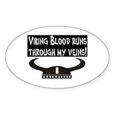 VIKING BLOOD Oval Decal