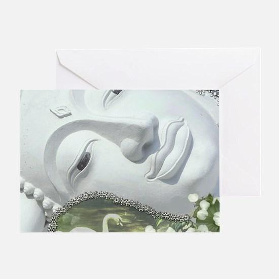 In the Garden - Quan Yin Flowers Greeting Card