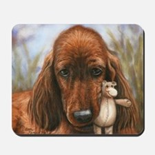 Irish Setter Pup by Dawn Secord Mousepad