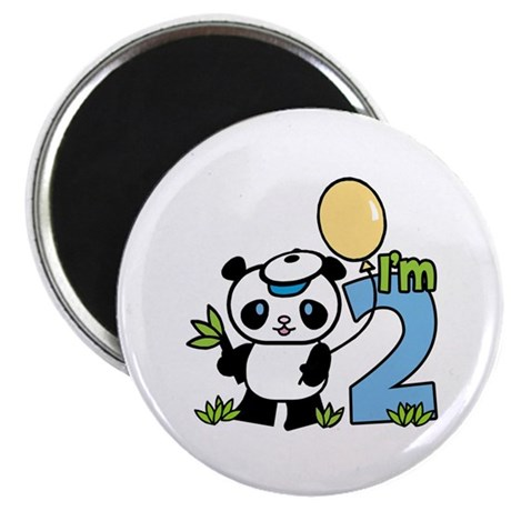 Lil' Panda Boy 2nd Birthday Magnet