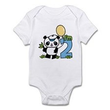 Lil' Panda Boy 2nd Birthday Onesie