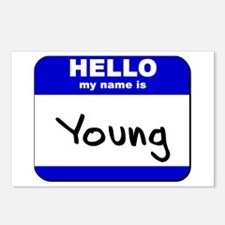 hello my name is young  Postcards (Package of 8)