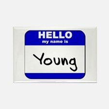 hello my name is young Rectangle Magnet