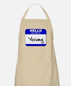 hello my name is young  BBQ Apron