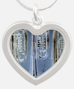 tubas-0 Silver Heart Necklace