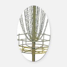 Disc Golf Basket Frisbee Frolf Oval Car Magnet
