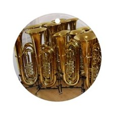 tubas-2 Round Ornament