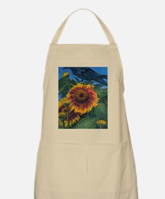 Sunflower and Raven Apron