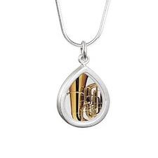 tuba-2 Silver Teardrop Necklace
